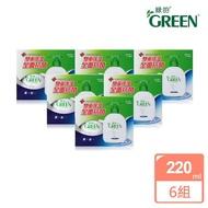 【Green綠的】超值12入組-抗菌潔手乳(220ml瓶裝x6+220ml補充瓶x6)