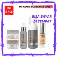 MS Glow Paket Ultimate Super / MsGlow Ultimate Series dengan Serum Luminous / Cream Penghilang Flek Hitam Ampuh / Krim Wajah Flek / Ms Glow untuk Flek Hitam dan Memutihkan / Cream Ms Glow Flek / Krim Pengilang Flek Hitam Membandel