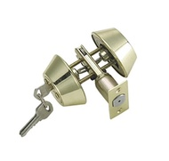 (UniDecor) UniDecor Double Cylinder Deadbolt Lockset 102 PB-