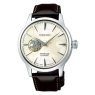 (WATCHHYPE) *New Arrival* SSA409J1 SSA409 Seiko Presage Honeycomb Cocktail Automatic Leather Strap Male Dress Watch