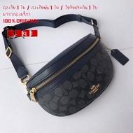 New Coach กระเป๋าคาดผ้าแคนวากระเป๋าสะพายข้าง Beg 39937 39939 กระเป๋าสะพายกระเป๋าผู้หญิงกระเป๋าสะพายกระเป๋าหนังกะลา
