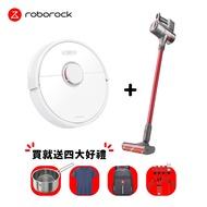 【限時促銷】Roborock 石頭雙旗艦機 寵愛媽咪組合(H6石頭旗艦無線吸塵器+石頭掃地機器人二代S6)