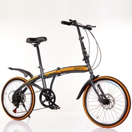 Variable Speed Double Disc Brake Folding Bicycle Adult Outdoor Riding Alloy Single Wheel Road 20 Inch Mountain Bike