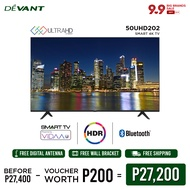 DEVANT 50-inch 50UHD202 Smart 4K TV with FREE Digital Antenna - Pre-loaded with Netflix, YouTube and Anyview Cast App
