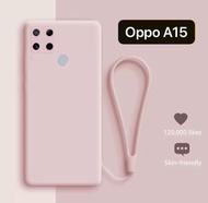 Case Oppo A15 Tali Doff Cover Silikon Casing Softcase Handphone