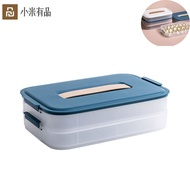 Youpin Plastic Dumpling Box Large Capacity Food Container Portable PP Material Kitchen Airtight Food Storage Refrigerator Frozen Dumplings Dumpling Tray Rack Multilayer Storage Box Superimposed Using Home Kitchen Accressories