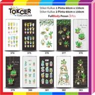 Fridge 1 and 2 Door Cactus Stickers