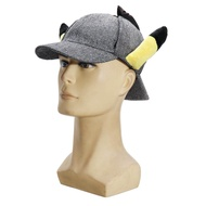 Banggood น่ารักนักสืบ Creative หมวก Pikachu หูภาพยนตร์เด็กผู้หญิงการ์ตูนเบสบอลผ้าฝ้ายหมวกตุ๊กตาของเล่นยัดไส้