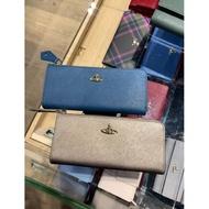 英國代購 Vivienne Westwood 星球LOGO十字紋皮革L型拉鍊長夾/皮夾/錢包 8卡 多色