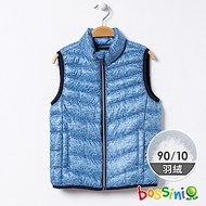 bossini男童-90/10極輕羽絨背心02藍色
