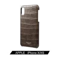 「65折優惠,現貨全新品」日本東京 Gramas iPhone X/Xs 職匠工藝 背蓋式手機殼 - 尊爵版 黑/酒紅/咖啡