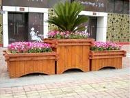 花箱 戶外木質花箱樹箱長方形組合碳化木花箱花槽花盆種植箱種菜箱