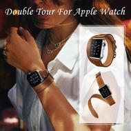 สายหนังนิ่มยาวสำหรับApple Watch,สายนาฬิกาข้อมือสำหรับApple Watch Series 5 4 3 2 1 40มม. 44มม. 38มม. 42มม.