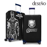 DESENO Marvel 漫威英雄造型 彈性 旅行箱保護套 行李箱套 黑豹 L號 (28-29吋) 0003 加賀皮件