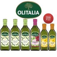 【Olitalia 奧利塔】精緻橄欖油x3+葡萄籽油x1-1000mlx4瓶-禮盒組(贈頂級芥花油500mlx2瓶)