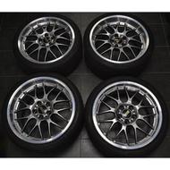 類 BBS RSGT 台制18吋鋁圈含胎 一組四個25000元 BMW e34 e39 e60 E38 E65 E66