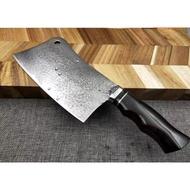 大馬士革家用( 砍骨刀 )  切菜刀 切肉刀 收藏刀 送禮刀 刀具 直刀 小刀