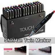 ShinHan TOUCH TWIN Marker 60colors Dual Point Marker/ Drawing Art Marker Pen  (A/B Type)