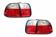 大禾自動車 LED 紅白晶鑽 後燈 尾燈 仿99 適用 喜美 CIVIC6代 K8 96-98年