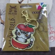 達洋貓造型悠遊卡-蘋果