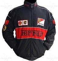 เสื้อแจ็คเก็ตทีมรถเฟอร์รารี่ (Ferrari) สีดำ
