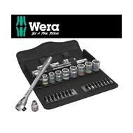 【Wera】德國Wera三分公制彩色套筒扳手鉻鉬撥桿型29件-帆布包(8100SB8-3/8)