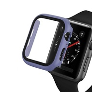 Case and Tempered Glass for Apple Watch 40mm 44mm Series 5 4 Screen Protector Coverage Bumper Case for Apple Watch Series 3 2 1 38mm 42mm