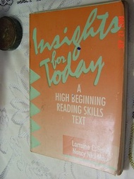 INSIGHTS FOR TODAY-A HIGH BEGINNING READING SKILLS TEXT