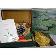 ☆優買二手名牌店☆ 勞力士 ROLEX 14060 submariner 老面 T25 黑水鬼 無曆 盒單全 絕版款 錶