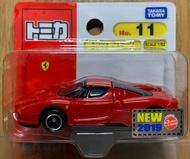☆勳寶玩具舖【現貨】Tomica 多美小車 日版 NO .11 法拉利賽車 Ferrari Scale 1/62
