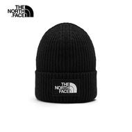 【The North Face】The North Face北面男女款黑色保暖針織毛帽 3FJXJK3