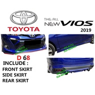 TOYOTA VIOS 2019 DRIVE 68 BODY KIT D68 SKIRT SKIRTING FULL SET BODYKIT 2020