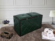 綠色 鐵框 收納凳《喬休爾》收納椅 工業風 復古 收納箱 雜物箱 置物箱 儲物箱 穿鞋凳 腳椅 玄關凳 !新生活家具! 樂天雙12