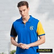 Nautica COMPETITION色塊拼接POLO衫-藍色
