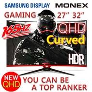 MONEX 27 32 24 inch Gaming Monitor Samsung Panel / Curved 144Hz / 165Hz