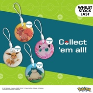 Limited Edition - Pokemon (Lazada Exclusive) Snorlax Evee JigglyPuff Vulpix Ez Link Charm (While Stock Lasts!)
