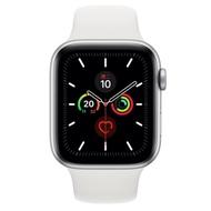 [無卡分期-12期]Apple Watch Series 5(GPS)44mm銀鋁+白錶帶