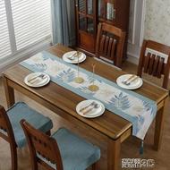 桌巾 美式鄉村桌旗棉麻餐桌椅子套罩布藝椅墊床尾巾中式電視櫃茶幾桌布 榮耀3c