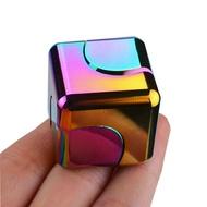 指間陀螺旋轉魔方指尖陀螺炫彩手指陀螺edc減壓玩具正方形合金