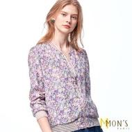 【MON'S】花邊羅紋雙面穿外套