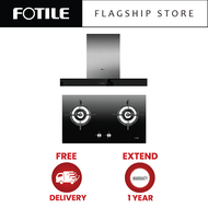 ?FREE DELIVERY?FOTILE EMS9021-R Chimney Cooker Hood (Recirculation / Recycle) + FOTILE GHG78211 Built-In Gas Hob