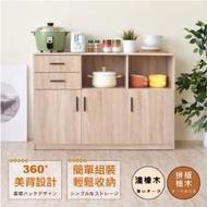 HOPMA 《HOPMA》工業風三門二抽二格廚房櫃 PC-D-C186PMS/PTK-R
