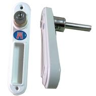 DR-303氣密窗鎖 鋁門鎖 按鈕鎖 窗戶鎖 玻璃鎖 紗門鎖 紗窗鎖 紗窗安全鎖 門窗安全鎖(氣密窗鋁門專用)