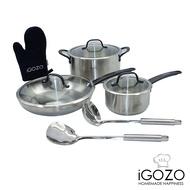 iGOZO multi size 304 Stainless steel Cookware set