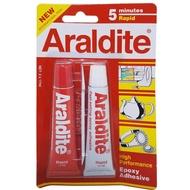 กาวอาราไดท์ ARALDITE กาวอีพอกซ์ซี่แบบผสม (สีใส) แห้งเร็ว 150นาที (Min.) ชนิด 2 หลอดแดง- ขาว