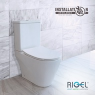 [BULKY] RIGEL GALLANT SERIES WC9030S RIMLESS + WHIRLWASH FLUSH BEST MOST EFFICIENT FLUSHING WATER CLOSET