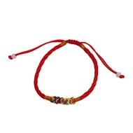 Fashion Lychee Red Rope String Bracelet Chinese Oriental Good Luck Thread Handmade Bracelet for Women Men Adjustable Length