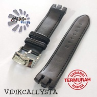 Swatch 21mm Genuine Leather Soft Leather Strap For Swatch Black 21 mm