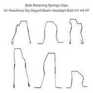 Realmeday Bulb Retaining Springs Clips for Headlamp Dip Dipped Beam Headlight Bulb H1 H4 H7