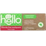 美國Hello純天然兒童牙膏 西瓜無氟口味、莓果含氟、有機蘋果凝膠